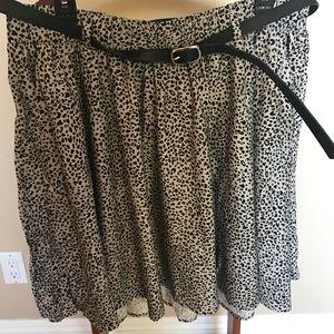 Torrid size 2 leopard skirt